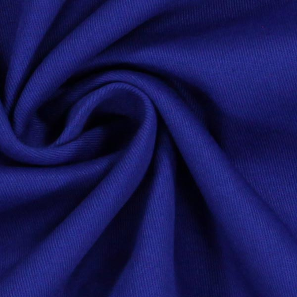 Tissu croisé en coton stretch – bleu roi
