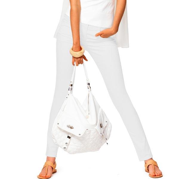 Tissu croisé en coton stretch – blanc