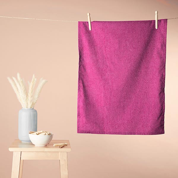 Tissu éponge – rose vif
