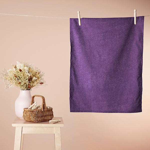 Frotteestoff – violett