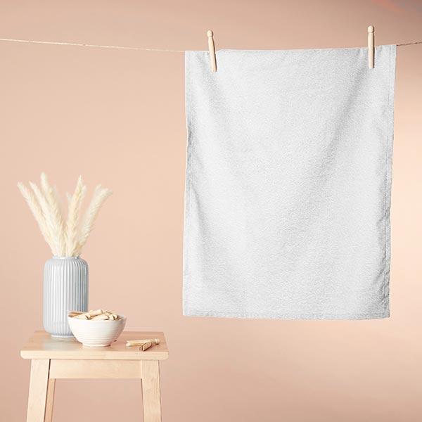 Tissu éponge – blanc