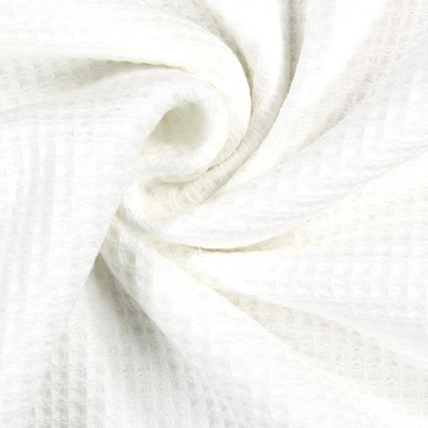 Tissu éponge Nid d'abeille – blanc
