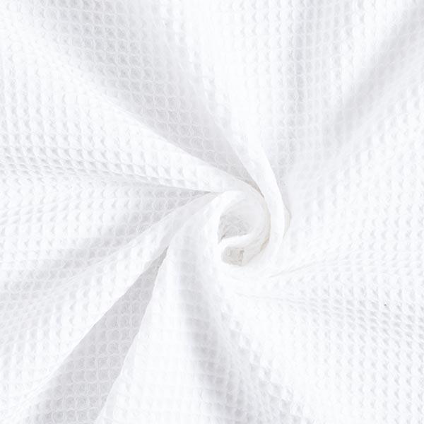 Piqué gaufré – blanc