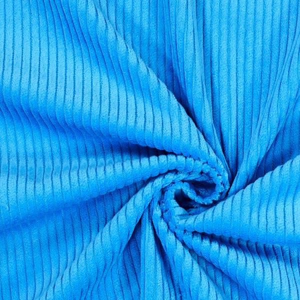 Velours àgrosses côtes camaïeu – bleu turquoise