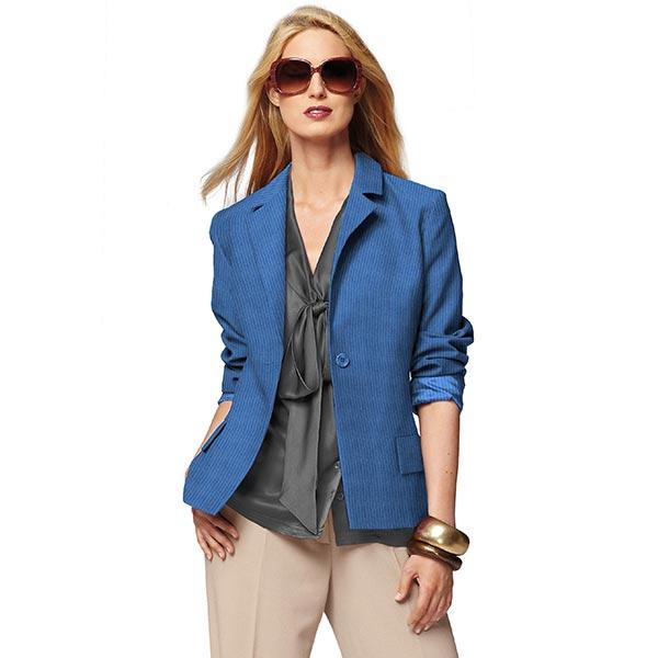 Breitcord einfarbig – jeansblau