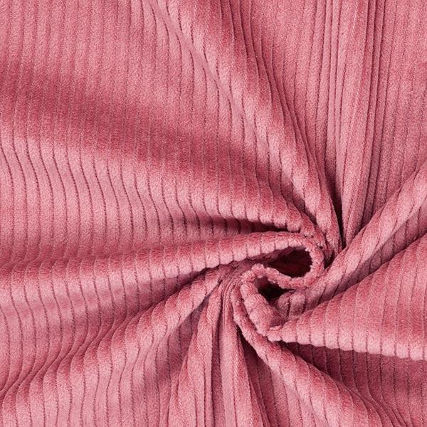 Velours àgrosses côtes camaïeu – vieux rose