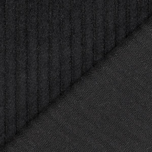 Velours àgrosses côtes camaïeu – noir