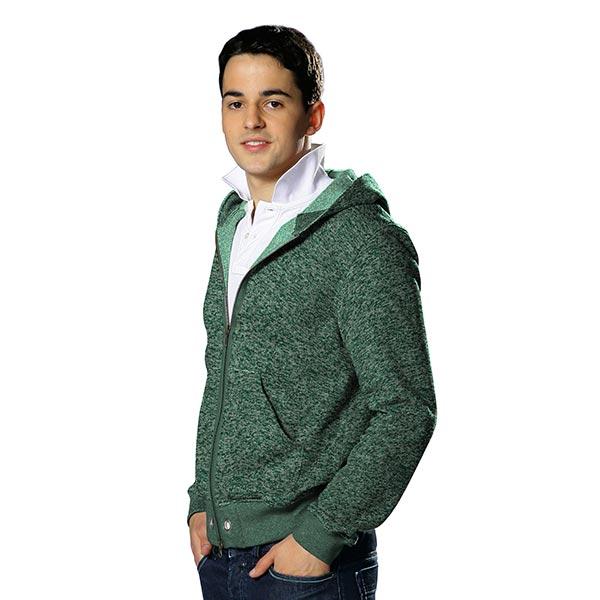 Polaire tricot – vert foncé
