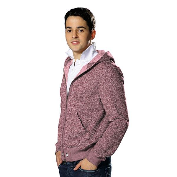 Polaire tricot – vieux rose