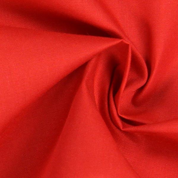 Popeline Uni – rouge vif