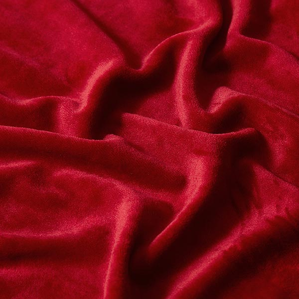 Velours stretch Tissu Nicki – rouge