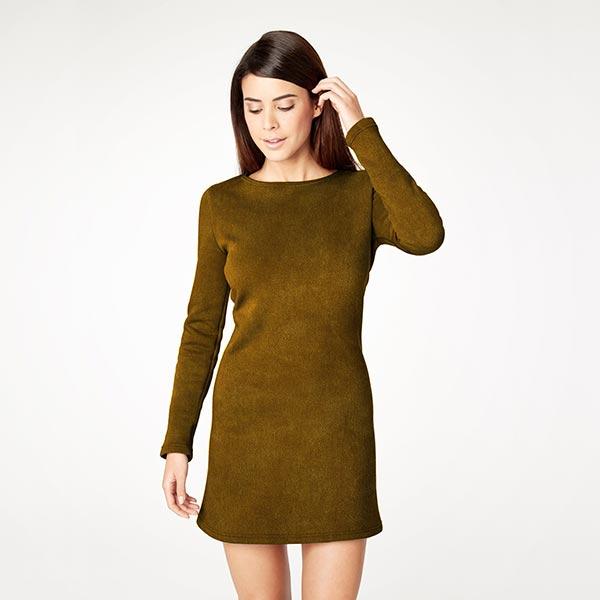 Velours stretch Tissu Nicki – moutarde