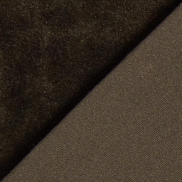 Velours stretch Tissu Nicki – marron foncé