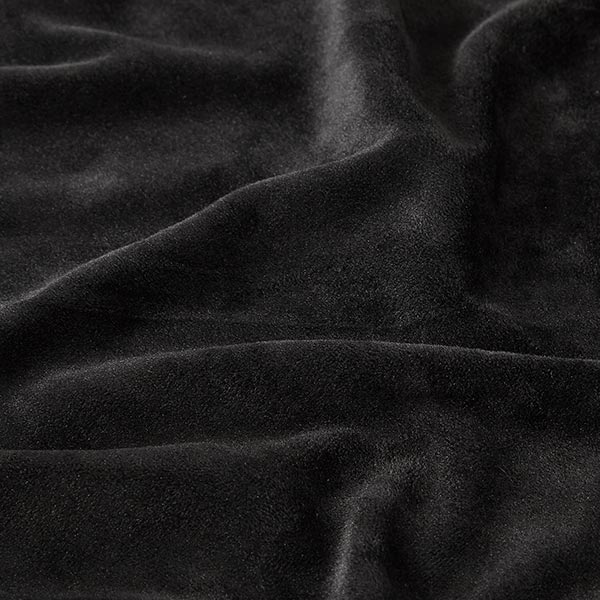 Velours stretch Tissu Nicki – noir