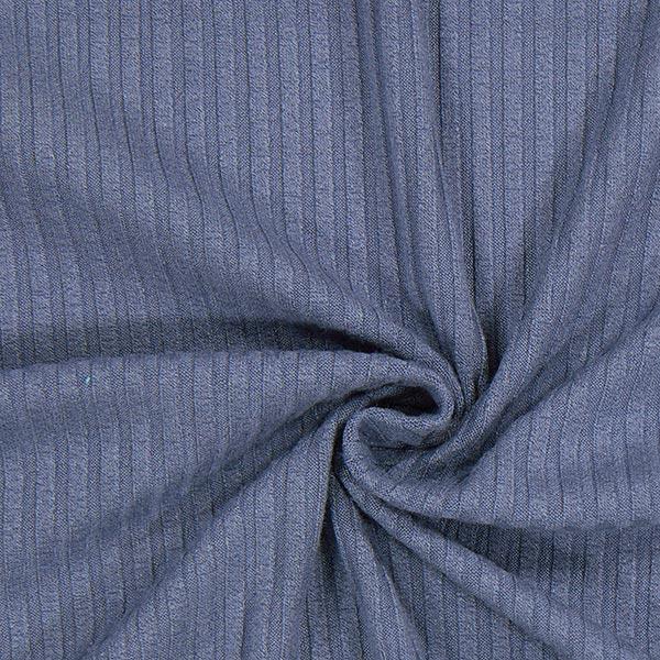 Tricot fin côtelé 1 – bleu jean