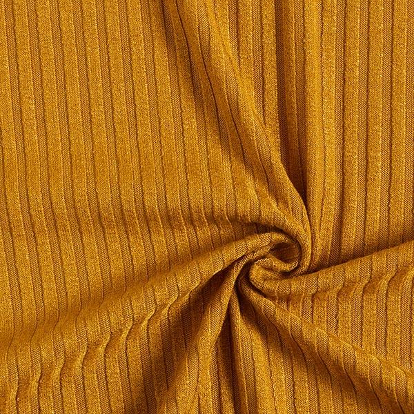 Rippenstrick – gelbbraun