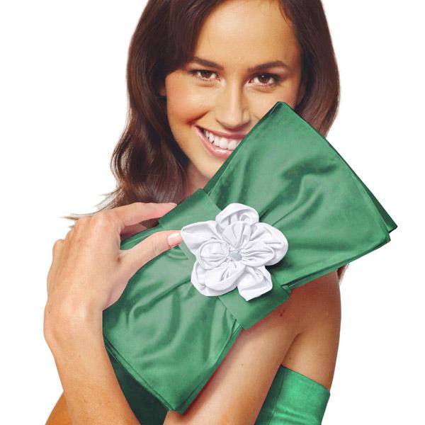 Satin mariée  – vert herbe