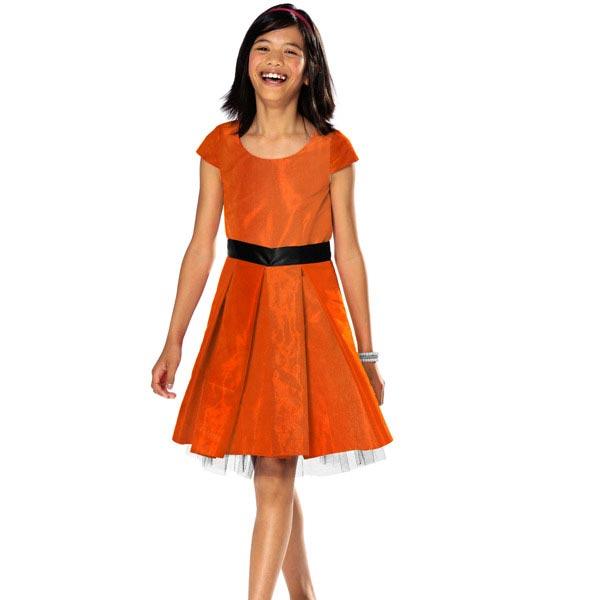 Satin mariée  – orange