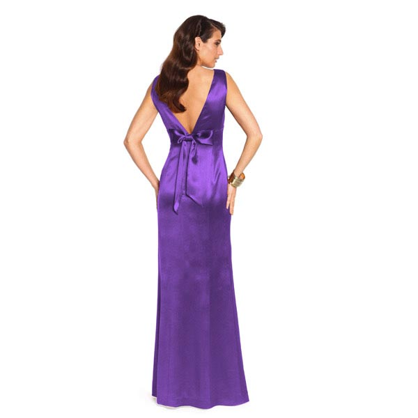 Satin mariée  – violet