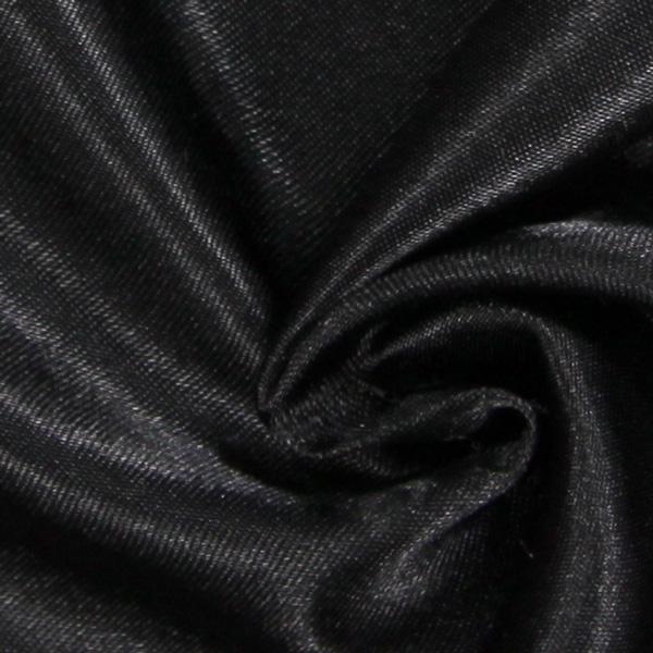 Satin mariée  – noir