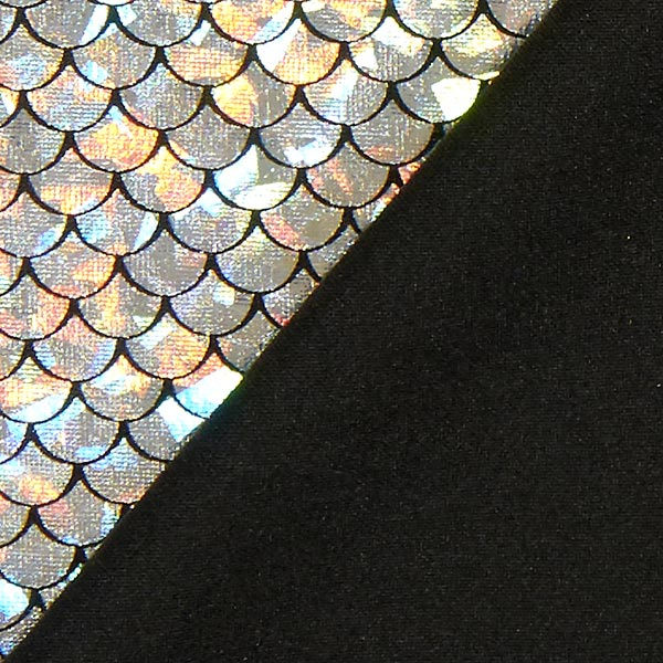 Jersey feuille Sirène – argent
