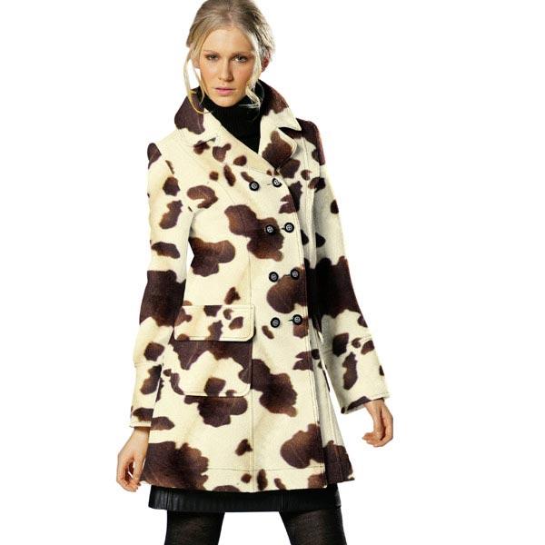 Imitation Fourrure d'Animal vache – marron