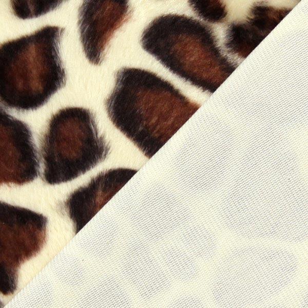 Imitation Fourrure d'Animal girafe – marron