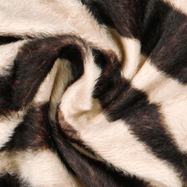 Kunstpels zebra – beige/marron foncé