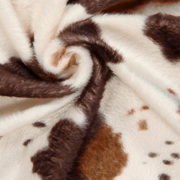 Imitation Fourrure d'Animal vache – marron/blanc