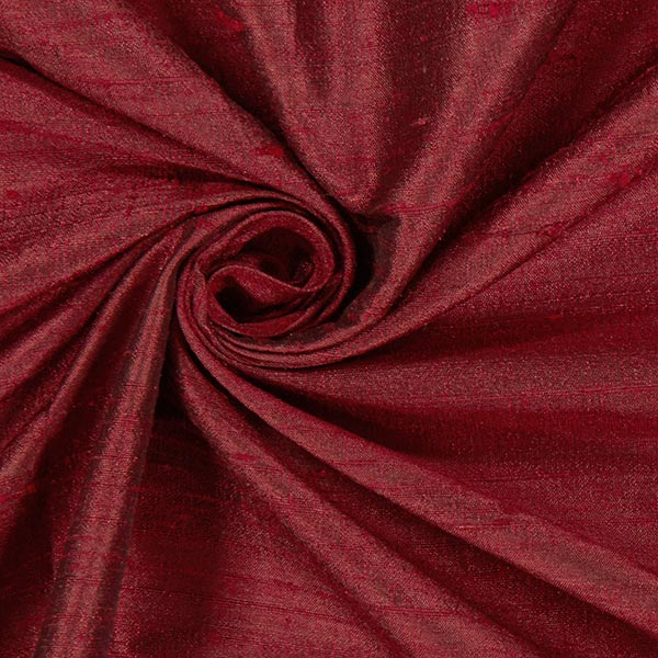 Soie dupion Shimmer – rouge bordeaux