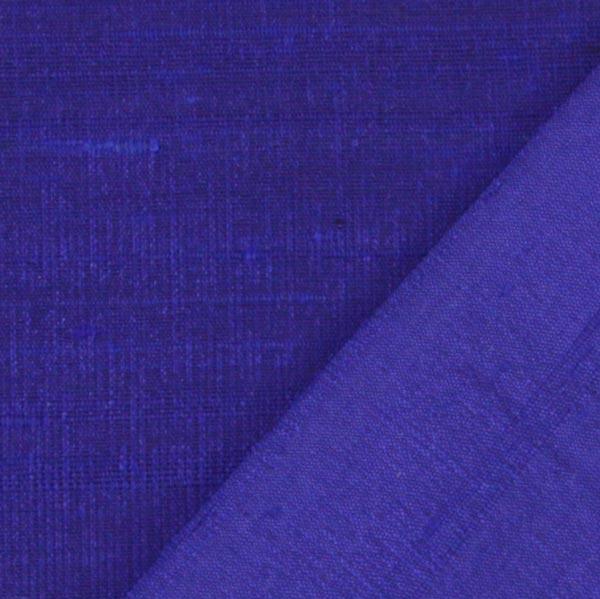 Soie dupion – bleu roi