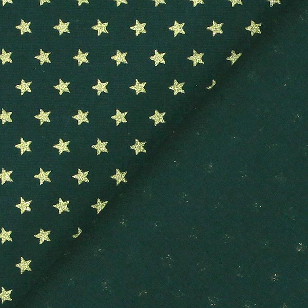 Popeline Étoiles mini 0,4cm – vert foncé