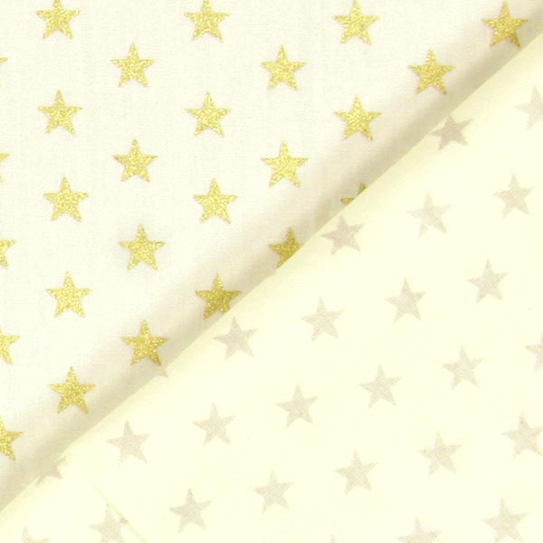 Popeline Étoiles médium 1cm – écru