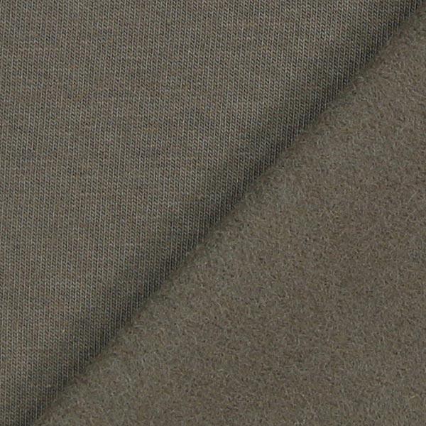 Jersey de coton gratté Uni – marron