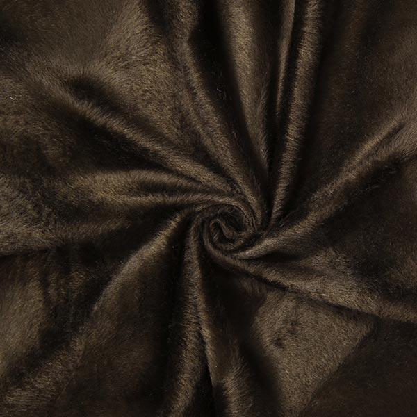 Fourrure synthétique Structure ondulante – marron