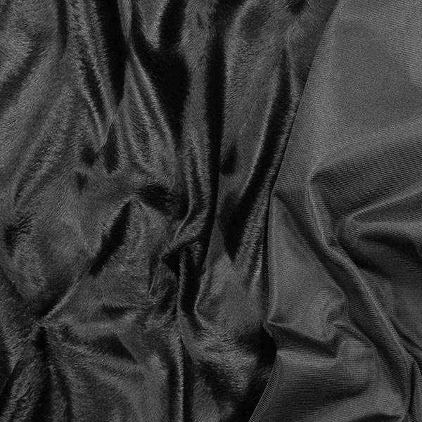 Kunstfell Wellenstruktur – schwarz