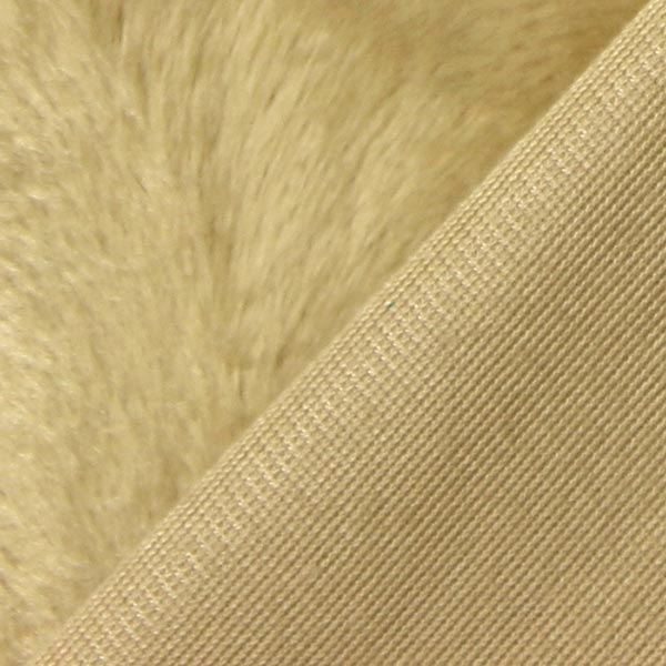 Fourrure synthétique Structure ondulante – beige