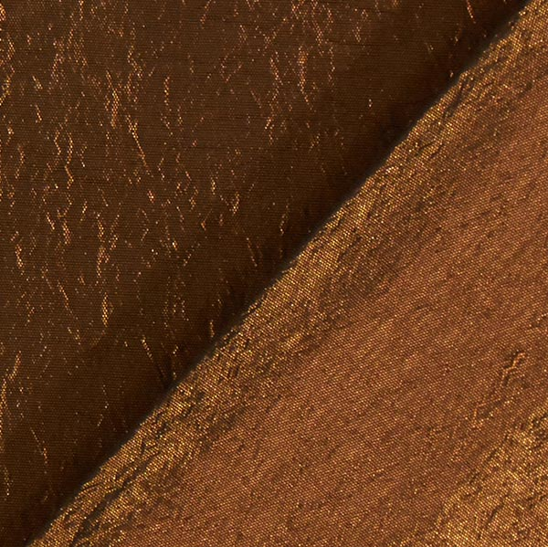Tissu taffetas Crash – bronze