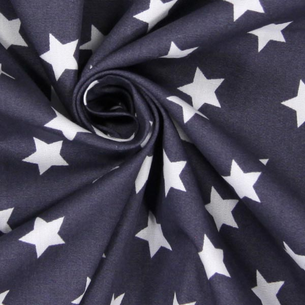 Tissu en coton Popeline Petites étoiles – gris