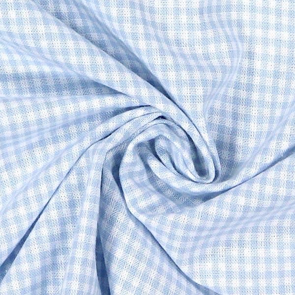 Tissu en coton Vichy - 0,2 cm – bleu clair