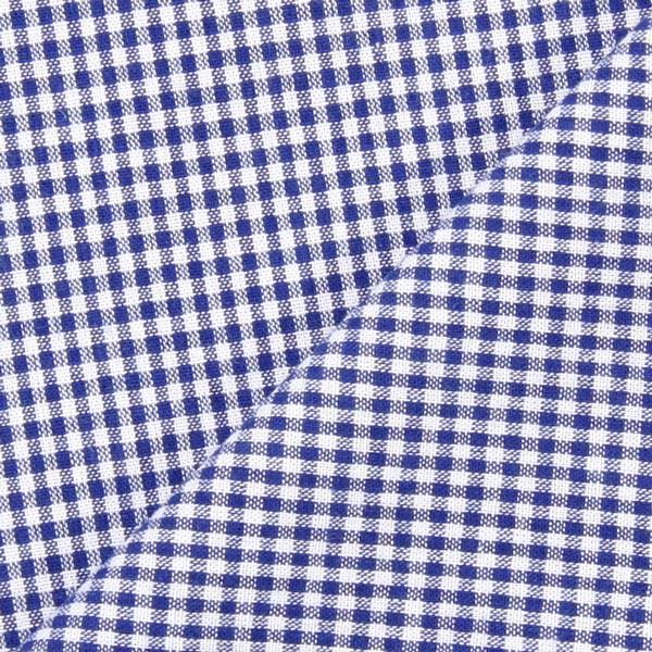 Tissu en coton Vichy - 0,2 cm – bleu roi