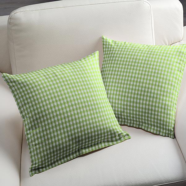 Tissu en coton Vichy - 0,2 cm – vert pomme