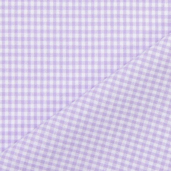 Tissu en coton Vichy - 0,2 cm – lilas pastel