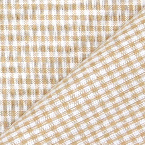 Tissu en coton Vichy - 0,2 cm – marron clair