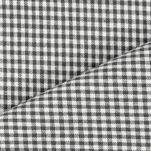 Tissu en coton Vichy - 0,2 cm – anthracite