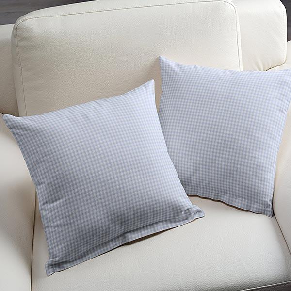 Tissu en coton Vichy - 0,5 cm – bleu bébé