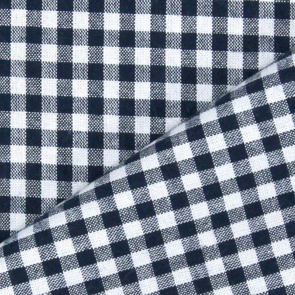 Tissu en coton Vichy - 0,5 cm – navy