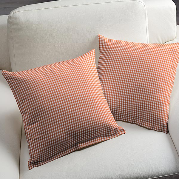 Tissu en coton Vichy - 0,5 cm – orange