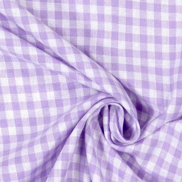 Tissu en coton Vichy - 0,5 cm – lilas pastel