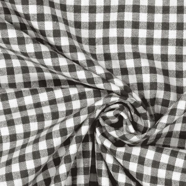Tissu en coton Vichy - 0,5 cm – anthracite